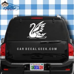 Beautiful Swan Car Window Decal Sticker
