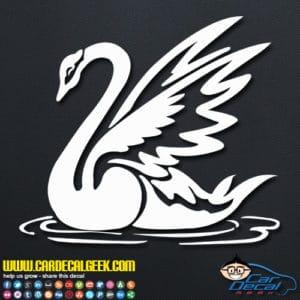 Beautiful Swan Decal Sticker