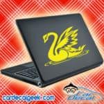 Beautiful Swan Laptop MacBook Decal Sticker