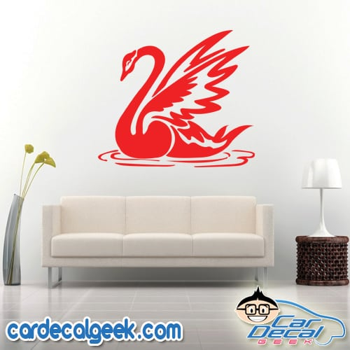 Beautiful Swan Wall Decal Sticker