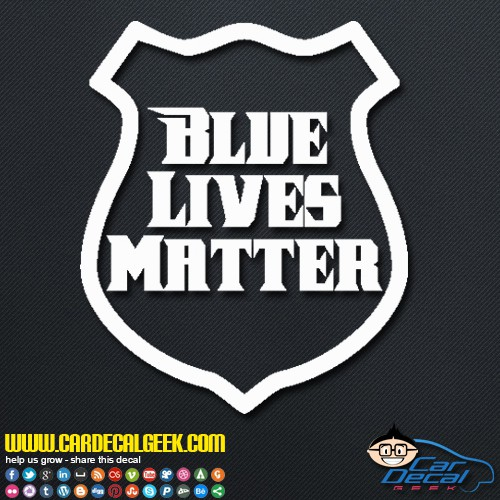 Blue Lives Matter Police Badge Decal Sticker