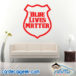 Blue Lives Matter Police Badge Wall Decal Sticker