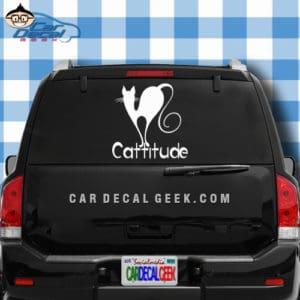 Cattitude Cat Car Window Decal Sticker