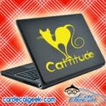 Cattitude Cat Laptop MacBook Decal Sticker