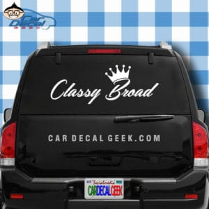Classy Broad Car Window Decal Sticker