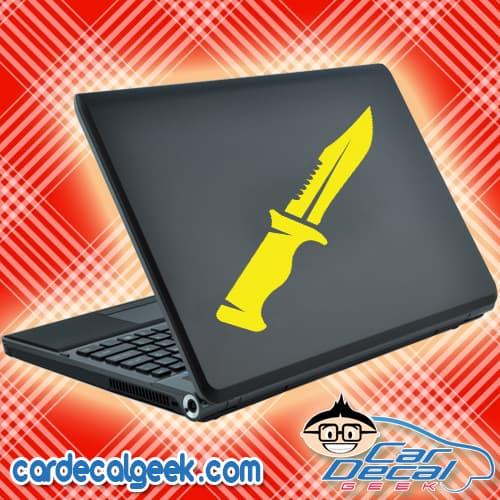 Combat Hunting Knife Laptop MacBook Decal Sticker