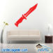 Combat Hunting Knife Wall Decal Sticker