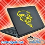 Creepy Awesome Skull Laptop MacBook Decal Sticker