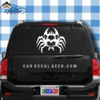 Creepy Spider Skull Car Window Decal Sticker