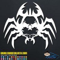 Creepy Spider Skull Decal Sticker