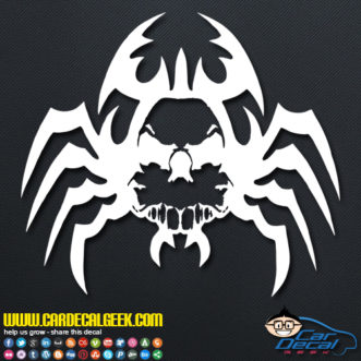 Creepy Spider Skull Decal Sticker
