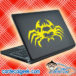 Creepy Spider Skull Laptop MacBook Decal Sticker