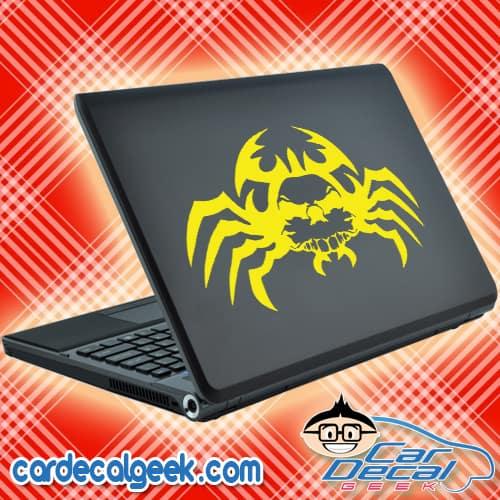 Creepy Spider Skull Laptop MacBook Decal Sticker