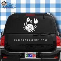 Cute Crab Car Window Decal Sticker