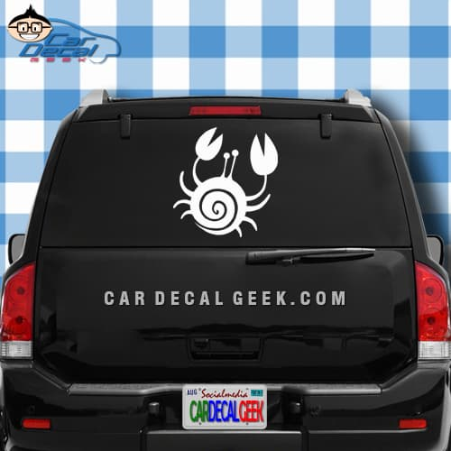 Cute Crab Car Window Decal Sticker