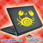 Cute Crab Laptop MacBook Decal Sticker