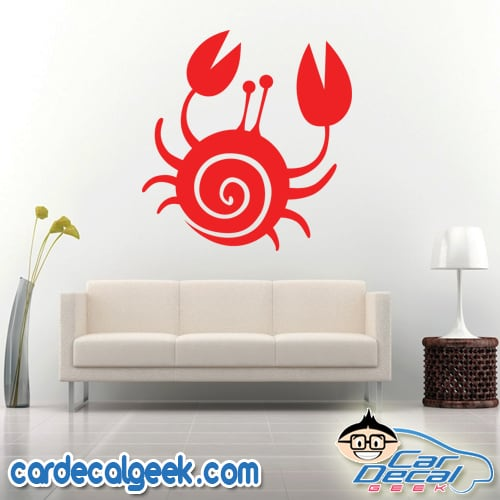 Cute Crab Wall Decal Sticker