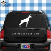 Doberman Dog Car Window Decal Sticker