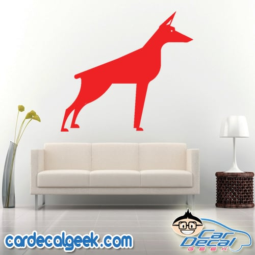 Doberman Dog Wall Decal Sticker