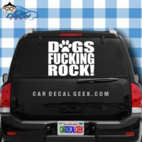 Dogs Fucking Rock Car Window Decal Sticker