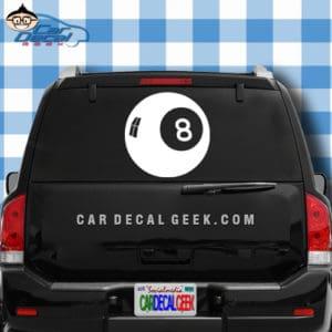 Eight Ball Car Window Decal Sticker