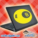 Eight Ball Laptop MacBook Decal Sticker