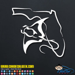 Florida Manta Ray Decal Sticker