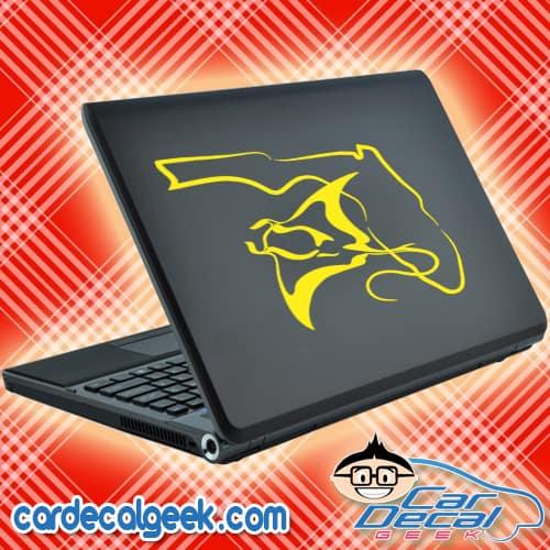 Florida Manta Ray Laptop MacBook Decal Sticker