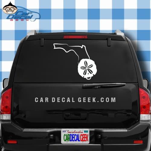 Florida Sand Dollar Car Window Decal Sticker
