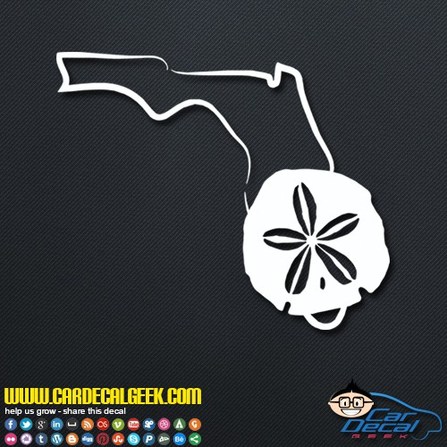 Florida Sand Dollar Decal Sticker