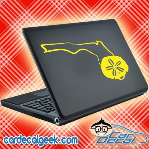Florida Sand Dollar Laptop MacBook Decal Sticker