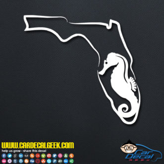 Florida Sea Horse Decal Sticker