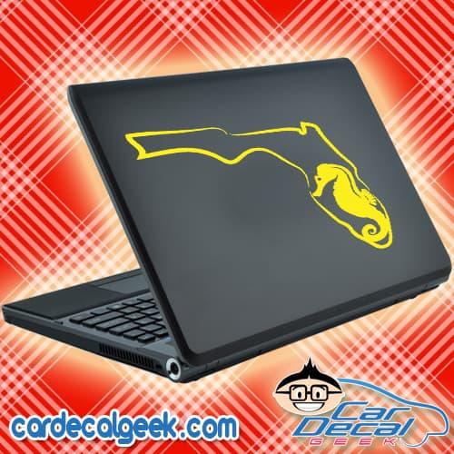 Florida Sea Horse Laptop MacBook Decal Sticker