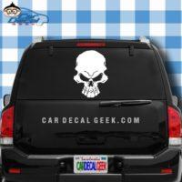 Freaking Scary Skull Car Window Decal Sticker