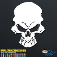 Freaking Scary Skull Decal Sticker