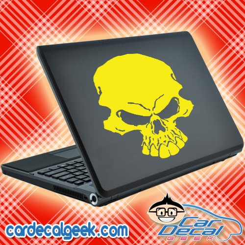 Freaking Scary Skull Laptop MacBook Decal Sticker