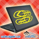 Gecko Flip Flops Laptop MacBook Decal Sticker