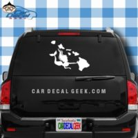 Hawaii Islands Mermaid Decal Sticker