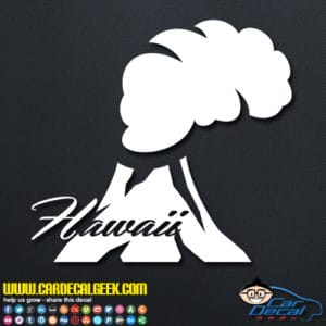 Hawaii Volcano Decal Sticker