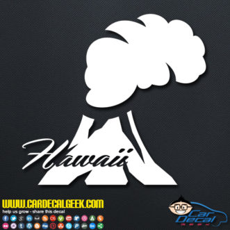 Hawaii Volcano Decal Sticker