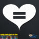 Heart Equal Rights Gay Decal Sticker