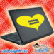 Heart Equal Rights Gay Laptop MacBook Decal Sticker