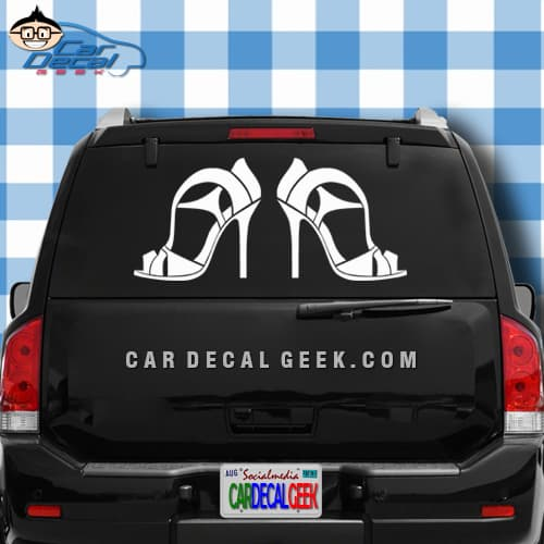 High Heels Car Window Decal Sticker