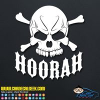 Hoorah Army Skull Car Window Decal Sticker
