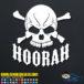 Hoorah Army Skull Car Window Decal Sticker