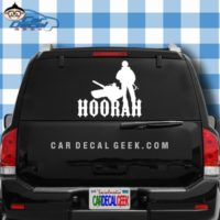 Hoorah Army Soldier Tank Car Window Decal Sticker