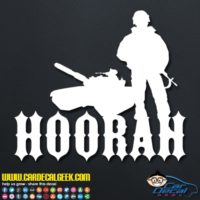 Hoorah Army Soldier Tank Decal Sticker