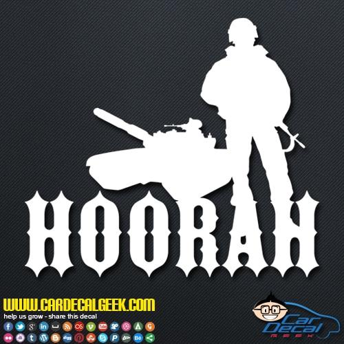 Hoorah Army Soldier Tank Decal Sticker