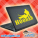 Hoorah Army Soldier Tank Laptop MacBook Decal Sticker