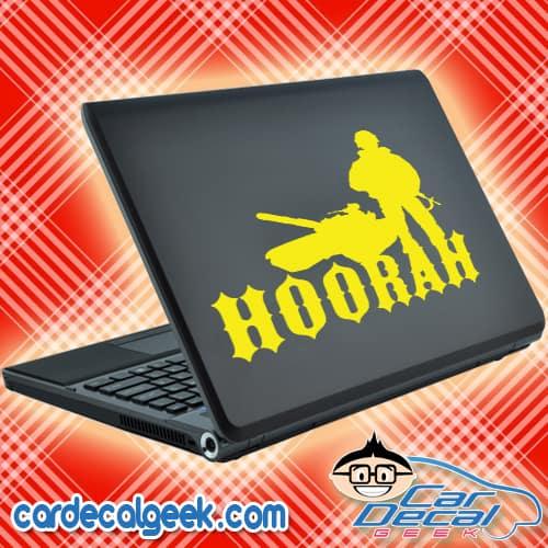 Hoorah Army Soldier Tank Laptop MacBook Decal Sticker